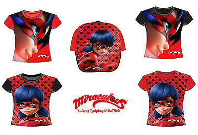 Ladybug Miraculous Licensed Original T-Shirt and baseball cap for children.