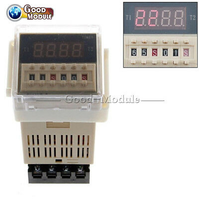220V AC DH48S-S Digital Precision Programmable Time Delay Relay With Socket Base