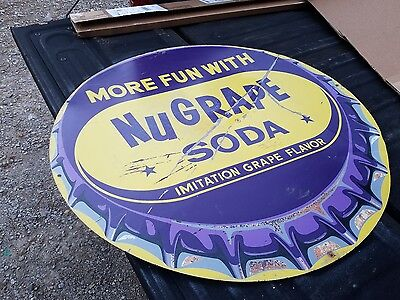 nugrape sign 36inch soda 7up original barqs pepsi coca cola