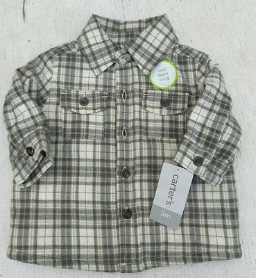 NEW NWT Infant baby boys long sleeved shirt 3 months CARTERS