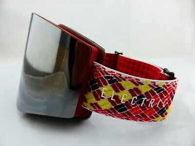 Electric EGX Snow Goggles Red/Black Rope - Bronze Silver Chrome + Green Lens