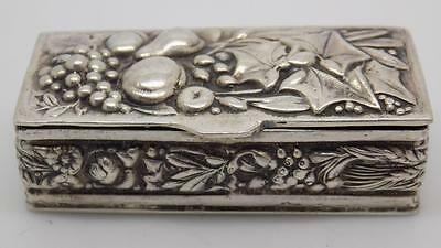 Vintage Solid Silver Beautiful Pill / Snuff Box - Stamped - Made in Italy