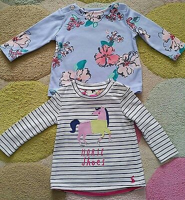 Baby girls Joules tops 3-6 months