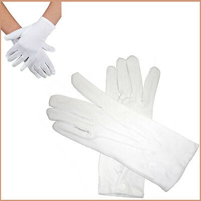 Adult-Child White Gloves Pair Magician/Clown/Costume Theatre Fancy Dress Gloves