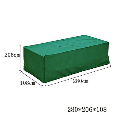 Waterproof Furniture Set Cover Shelter Patio Garden Table Rectangular Protection