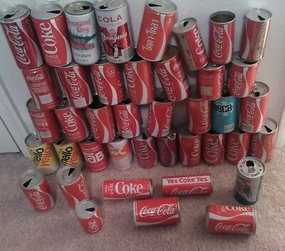 Coca Cola Can Lot Of 41 VINTAGE Cans. Europe, Germany, Pull Tab, 7up MELLO YELLO