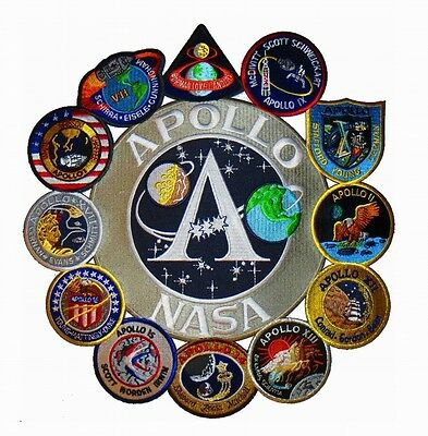 Patch Ecussons Collection NASA Projet Apollo Assemblage Thermocollants