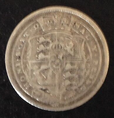 1817 Sixpence Silver Coin