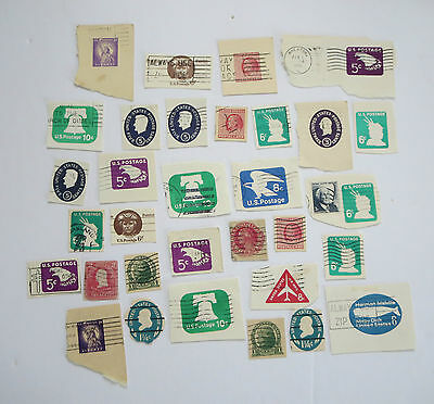 Usa Stamps Envelope/postal Card Cutouts Lot #5  Used