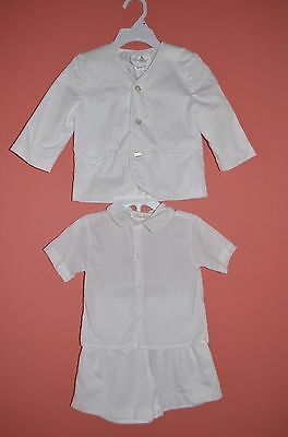 MINT 3 piece Strasburg white short suit Easter formal wedding pictures 18 months