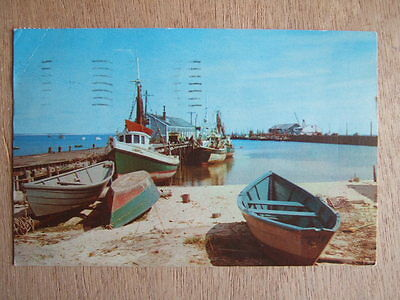 Cpa (Usa) Provincetown Waterfront Scene. Fishing Port. Art Colony. Stamped