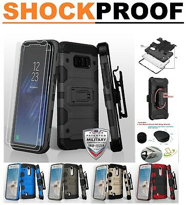 Samsung GALAXY S8 Plus Hybrid Impact Armor Rugged Hard Case Cover Holster Screen