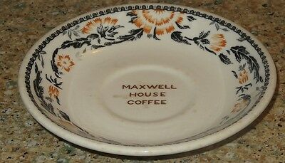 "Maxwell House Coffee 6"" saucer Mayflower Shop Iroquois China 1936"