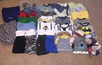 50 Piece Baby Boy Clothing Lot Size 0-3 Months