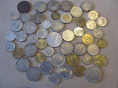FOREIGN Coins - Lot of 49 from many areas around the Globe!