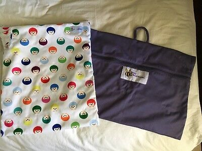 2 X New Large Wet bags, Baby Beehinds And Baby Bare