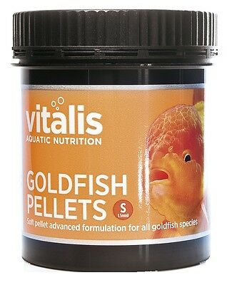 Vitalis Goldfish Sinking Pellets Food S (1.5mm Pellets) 60g 120g 300g (New Era)