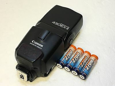 Canon Speedlite 430EX II Shoe Mount Flash for Canon Free Rechargeable Batteries