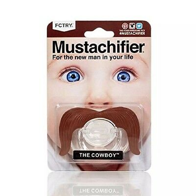 Mustachifier The Cowboy Baby Mustache Pacifier Binkie Silicone BPA Free