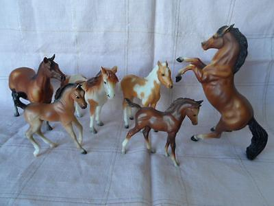 Vintage Breyer Horses Lot of 6 Rearing Stallion Stormy Mustang Mare