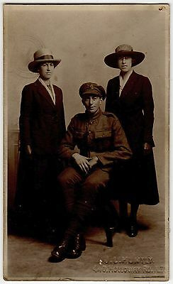 Ww1 Photo Of A Soldier Possibly From An Irish Reg ~ An Old Photo Postcard #7V21