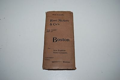 Vintage Boston Road Map Rand,McNally & Co's Mint Condition For Early 1900's