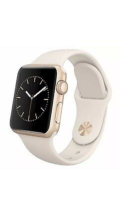 Apple Watch: Series 1 38mm Gold Aluminum Case Antique White Sports Band