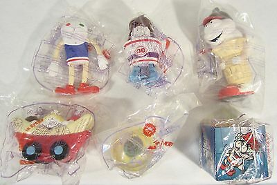 Sealed Set 6 Dairy Queen DQ Kids Pick-Nic Ice Cream Treat Character Figure Toys