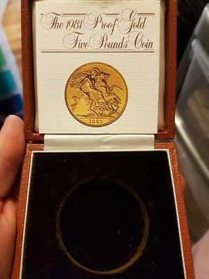1981 Gold £5 Five Pound Coin Box&coa Only
