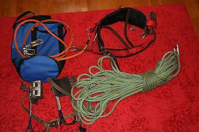 Pole Arborist Tree Climbing Gear lot kit  KLEIN BUCKINGHAM WEAVER SAMSON OPSAL