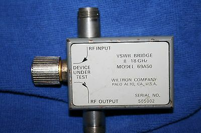 Wiltron  Vswr Bridge Model  69A50, 8-18 Ghz