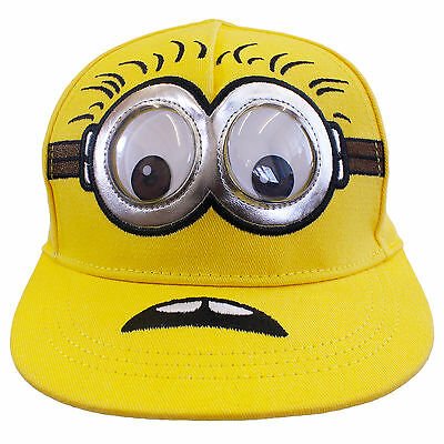 Official Licensed Kids Minions Rotating Eyes Baseball Cap Hat Age 3-10 Years