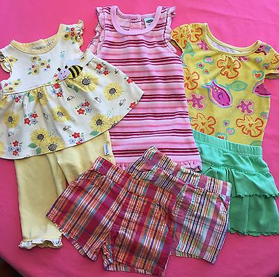 Lot of 7 Baby Girl Spring Summer Clothes Size 18 Months