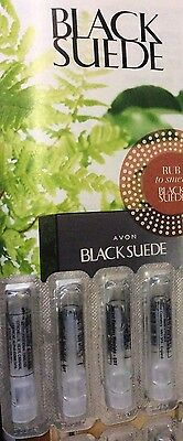 5 AVON BLACK SUEDE MEN  PARFUM SAMPLE  for party hens & VALENTINE GIFT
