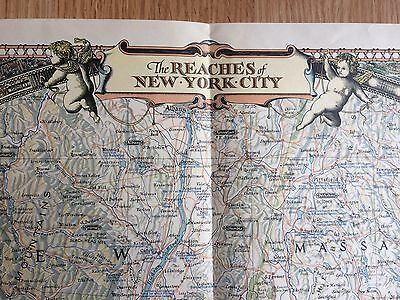 1939 Illustrated The Reaches Of New York City Map