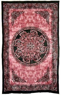 Celtic Knot Red Bedspread Tapestry
