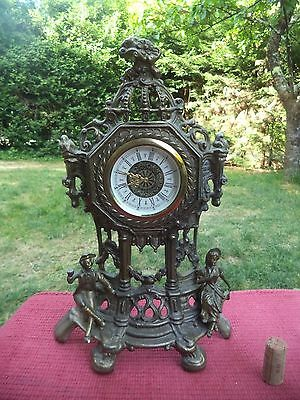 Ancienne Pendule Horloge Clock  Regule Bronze Laiton