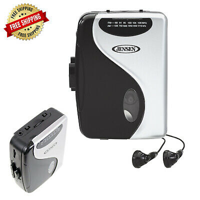 NEW Stereo Cassette Player AM FM Radio Portable Walkman with Earbuds Tape Music