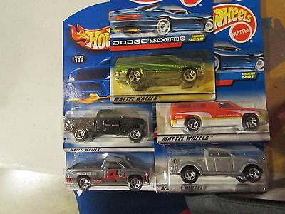 Hot Wheels Lot of (5) Dodge Ram 1500 Truck Types!! All Different Lot #6