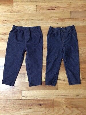 Carters Size 18 Month Jeggings 2 Pair Girls Baby Toddler