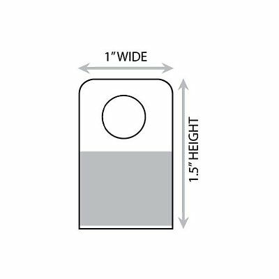 """1"""" X 1-1/2"""" Round Hole Adhesive Hang Tabs 1000/Pack"""