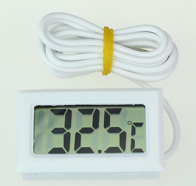 Digital LCD Indoor Temperature Meter Thermometer Temp Sensor Probe Kit