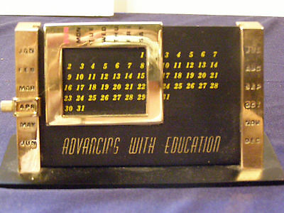Brass Perpetual Calendar Manual Small Desk Office Teacher Gift