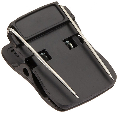 Cubicle Clips Plastic Double Pin Mechanism Black Office Products Accessories