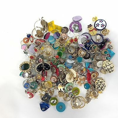 Mixed Lot of Jewelry Earrings Beads for Crafts Junk Drawer Use Upcycle Lot No. 5