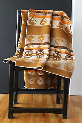 "Antique Jacobs Oregon City Genuine Woven Wool Trade Robe/ Blanket 69""x48"" Beauty"