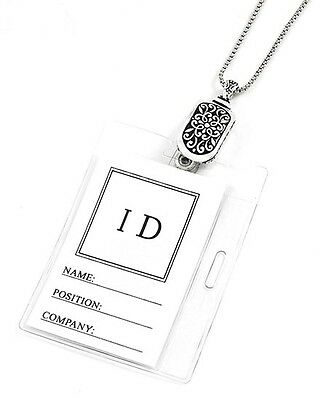 Designer Scroll ID Badge Name Tag Key Card Holder Necklace Lanyard Mothers Day