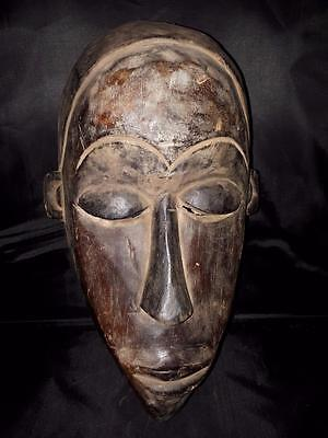 Old Tribal Baule Mask Coted'Ivoir Africa fes-57473