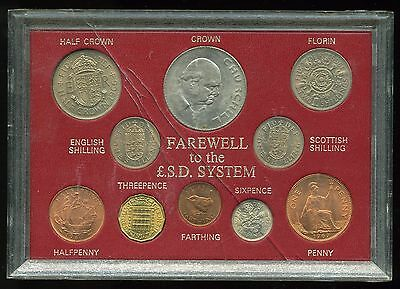 Great Britain Farewell to the £.s.d. System 10-Coin Set