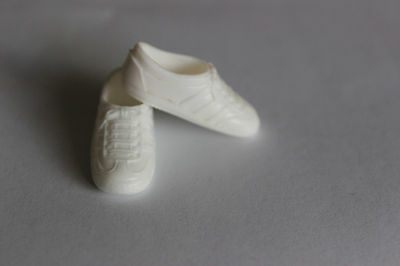 Barbie doll original white lace up gym shoes sneakers Mattel running flats